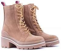 Tommy Hilfiger kožené topánky Sporty Chunky Lace Up Bootie