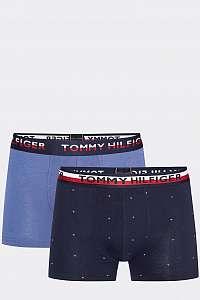 Tommy Hilfiger modré 2 pack pánske boxeriek 2P Trunk Print - XL