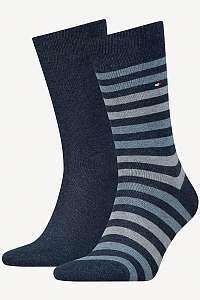 Tommy Hilfiger modré 2 pack ponožiek TH Men Duo Stripe Sock 2P --46