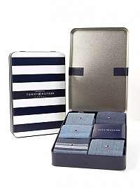 Tommy Hilfiger modré 5 pack ponožiek TH Men Birdeye Giftbox 5P --46