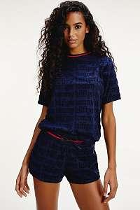 Tommy Hilfiger modré dámske tričko SS Logo Tee