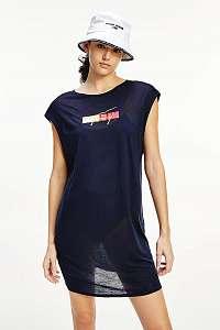 Tommy Hilfiger modré letné šaty s logom