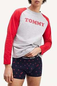 Tommy Hilfiger modré pánske boxerky Trunk Apples - XL