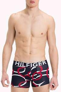 Tommy Hilfiger modré pánske boxerky Trunk Macro Pop - XL