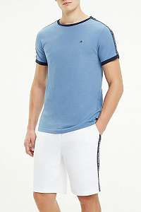 Tommy Hilfiger modré pánske tričko CN SS TEE Coronet Blue - XL