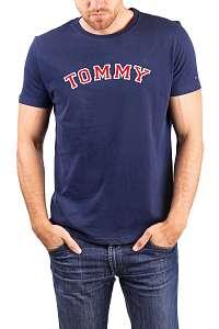 Tommy Hilfiger modré pánske tričko CN SS Tee Logo