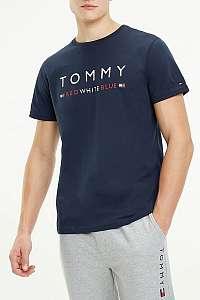 Tommy Hilfiger tmavo modré pánske tričko CN SS TEE s logom Red White Blue - XL