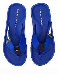 Tommy Hilfiger modré pánske žabky Corporate Stripe Beach Sandal Mazarine Blue -