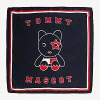 Tommy Hilfiger modrá šatka Logo Maskot Bandana Corporate