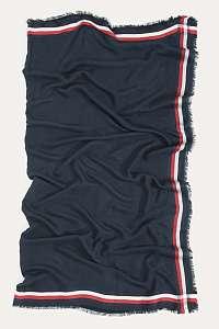 Tommy Hilfiger modrá unisex šatka Border Square Tommy Navy