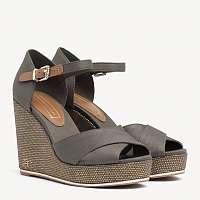 Tommy Hilfiger olivové topánky na kline Feminine Wedge Sandal Baci Dusty Olive -