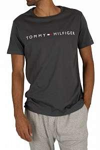 Tommy Hilfiger sivé pánske tričko CN SS Tee Logo Flag - XL
