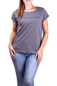 Tommy Hilfiger sivé tričko RN Tee SS Logo - L