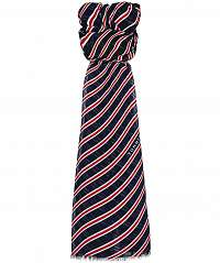 Tommy Hilfiger tmavomodrá šatka Regimental Stripes Print Scarf Corporate
