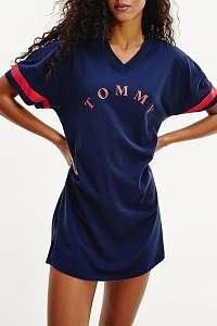 Tommy Hilfiger tmavomodré šaty VN Dress SS