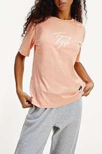 Tommy Hilfiger tričko SS Logo Tee Papaya Punch