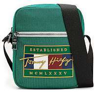 Tommy Hilfiger zelené pánska taška Signature Flag Mini Reporter