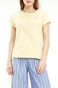 Tommy Hilfiger žlté tričko CN TEE SS - L