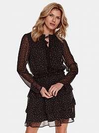 TOP SECRET čierne áčkové šaty so vzormi