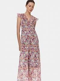 TOP SECRET ružové kvetované maxi šaty