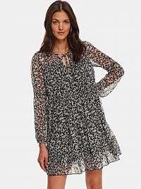 TOP SECRET sivé květované šaty
