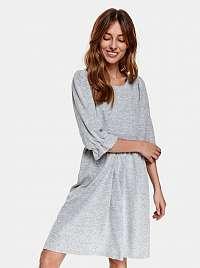 TOP SECRET sivé svetrové šaty