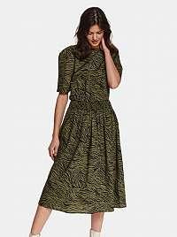 TOP SECRET zelené midi šaty so vzormi