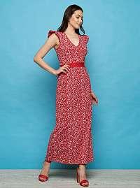Tranquillo červené maxi šaty