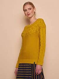 Tranquillo horčicový sveter