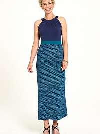 Tranquillo modré maxi šaty so vzormi