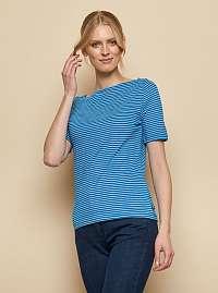 Tranquillo modré pruhované tričko Aja