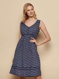 Tranquillo modré šaty s farebnými motívmi
