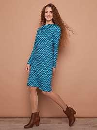 Tranquillo modré šaty so vzormi