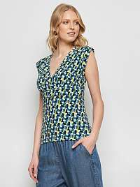 Tranquillo modré tričko s farebnými motívmi