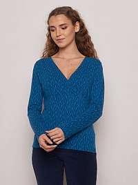 Tranquillo modré tričko so vzorom
