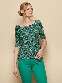 Tranquillo tmavo zelené vzorované tričko Pili