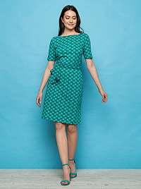 Tranquillo tyrkysové šaty so vzormi Enu