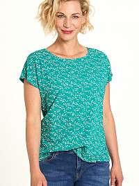 Tranquillo tyrkysové tričko s kvetinovým motívom