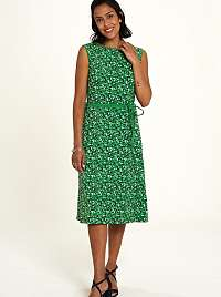 Tranquillo zelené šaty s drobným vzorom