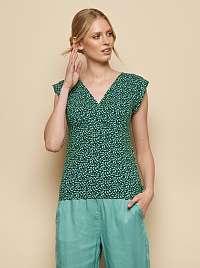 Tranquillo zelené tričko Kalisha so vzorom