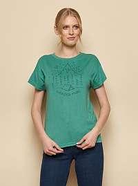 Tranquillo zelené tričko Kunto s potlačou