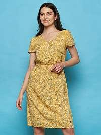 Tranquillo žlté kvetované šaty Madiba