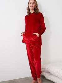 Trendyol červené dámske pyžamo