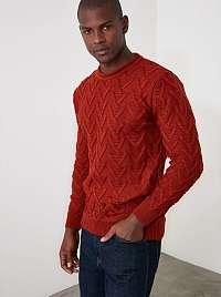 Trendyol červené pánsky sveter