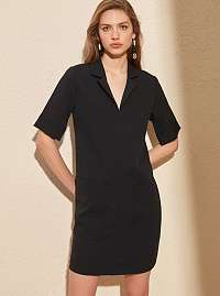 Trendyol čierne voľné šaty