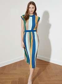 Trendyol farebné pruhované midi šaty