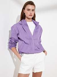 Trendyol fialové bunda