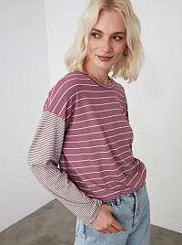 Trendyol fialové dámske tričko