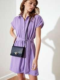 Trendyol fialové košeľové šaty