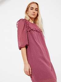 Trendyol fialové šaty so vzormi